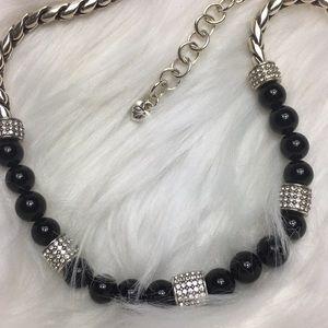 "Brighton Jewelry - Brighton, Black and gemstones, 17"" necklace."